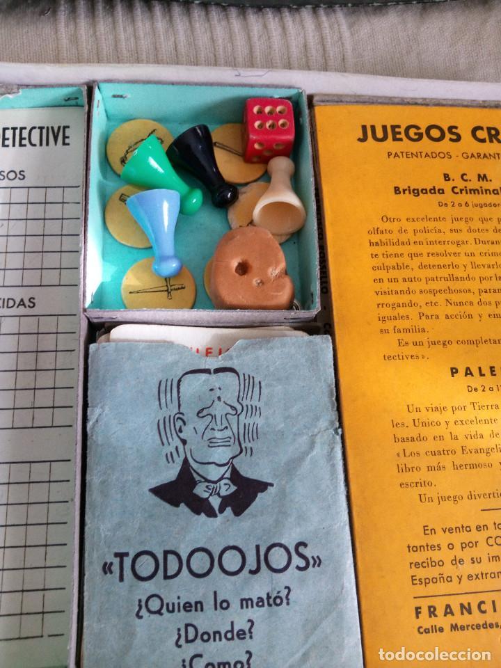 Juegos de mesa: DETECTIVES EL CASO TODOOJOS JUEGO MESA CRONE FRANCISCO ROSELLÓ AÑOS 50 POLICÍACO - Foto 8 - 142570250