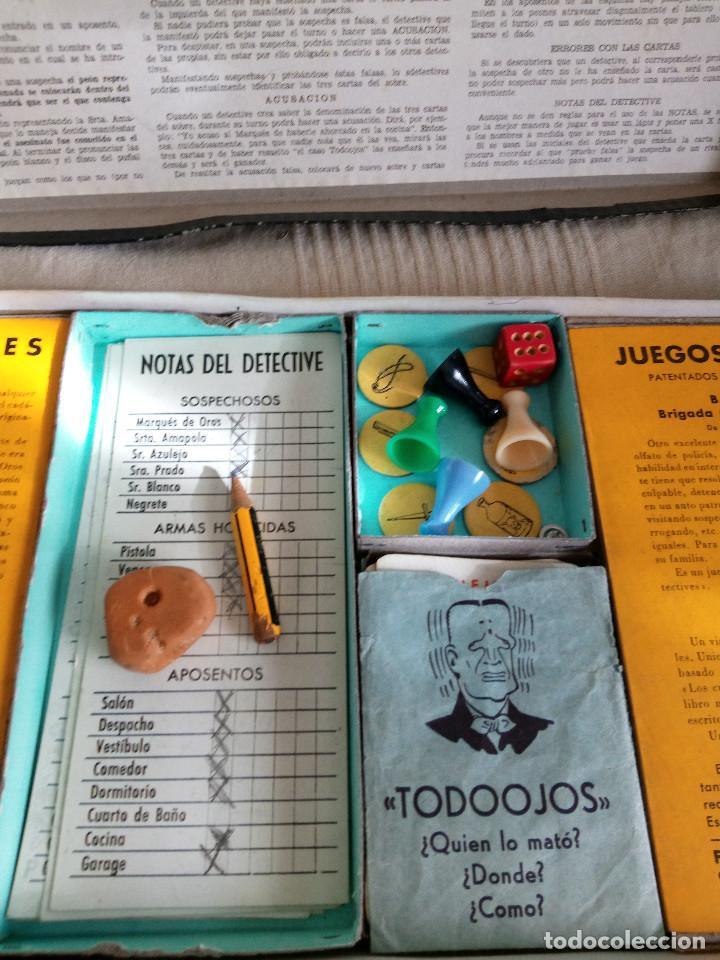 Juegos de mesa: DETECTIVES EL CASO TODOOJOS JUEGO MESA CRONE FRANCISCO ROSELLÓ AÑOS 50 POLICÍACO - Foto 9 - 142570250