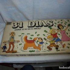 Jeux de table: 31 DIAS ¿DONDE SE HA IDO EL DINERO?PARKER.SOLO LE FALTAN 3 BILLETES Y UN PEON. Lote 142789674