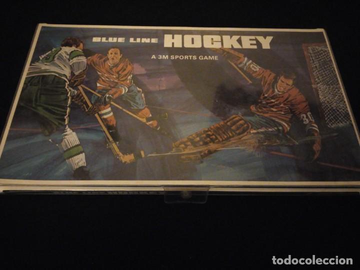 Juegos de mesa: blue line hockey a 3 m sports game,1969 - Foto 2 - 143630294