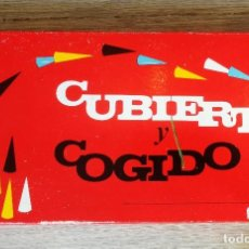Juegos de mesa: ANTIGUO JUEGO - CUBIERTO COGIDO - DE BORRAS - COMPLETO - CON SUS INSTRUCCIONES - COMO NUEVO -. Lote 143921878