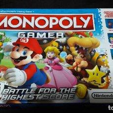 Juegos de mesa: MONOPOLY GAMER EDICION MARIO EN INGLES BUEN ESTADO COMPLETO. Lote 143922618