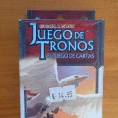Juegos de mesa: JUEGO DE TRONOS EL JUEGO DE CARTAS - UN MENSAJE FUNESTO - CICLO CONQUISTA Y DESAFIO - LCG (DC). Lote 144041346