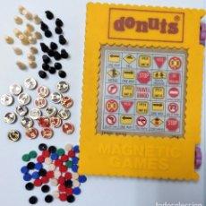 Juegos de mesa: DONUTS JUEGO MAGNETICO IMANES - VINTAGE AÑOS 70 TIPO PARCHIS OCA AJEDREZ. Lote 144593020
