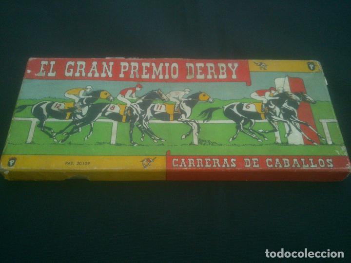 JUEGO ANTIGUO DE MESA JUEGO ANTIGUO DE MESA EL GRAN PREMIO DERBY CARRERAS DE CABALLOS. AÑOS 1950. (Juguetes - Juegos - Juegos de Mesa)