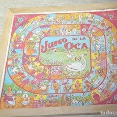 Juegos de mesa: ANTIGUO JUEGO DE LA OCA Y PARCHIS. Lote 145266190