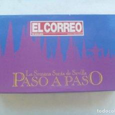 Jogos de mesa: SEMANA SANTA DE SEVILLA : JUEGO PASO A PASO. JUEGO DE PREGUNTAS TIPO TRIVIAL. Lote 213994063