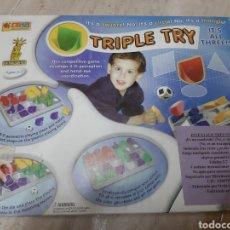 Juegos de mesa: JUEGO TRIPLE TRY. Lote 145923434