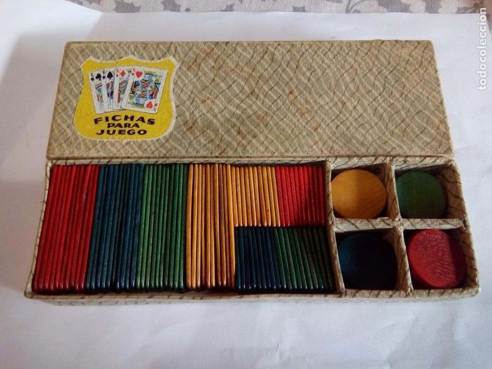 Juegos de mesa: CAJA DE FICHAS DE JUEGO DE MADERA - Foto 5 - 146249946