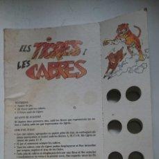 Juegos de mesa: JUEGO PUBLICITARIO - ELS TIGRES I LES CABRES - SOLO TABLERO - AÑOS 80. Lote 146428214