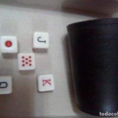Juegos de mesa: JUEGO CUBILETE Y DADOS DEL POKER. Lote 147382074