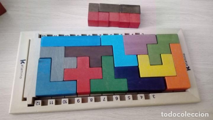 Board Games: Juego de mesa KATAMINO rompecabezas inteligente. GIGAMIC 2002 Hecho en Francia - Foto 5 - 147778598
