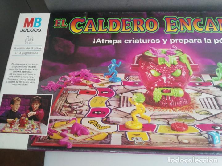 Juegos de mesa: ANTIGUO JUEGO DE MESA DE MB EL CALDERO ENCANTADO - Foto 2 - 234444050