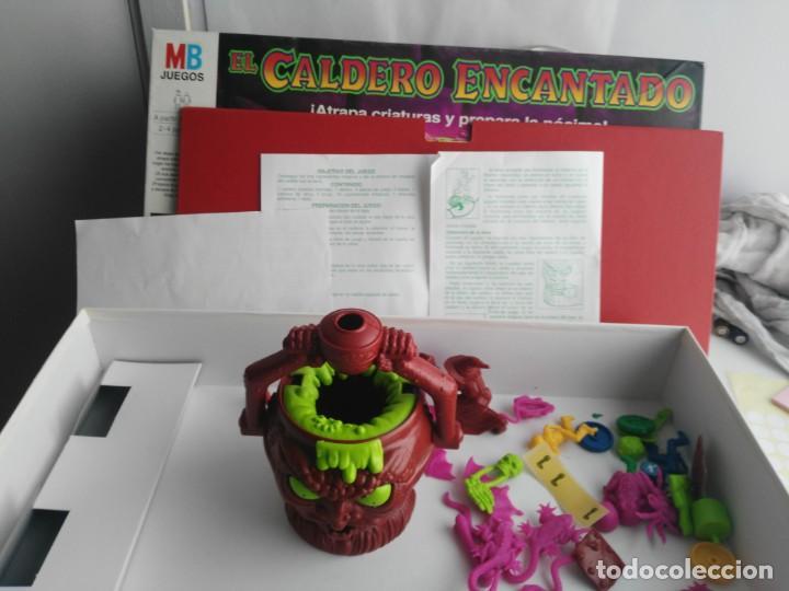 Juegos de mesa: ANTIGUO JUEGO DE MESA DE MB EL CALDERO ENCANTADO - Foto 4 - 234444050