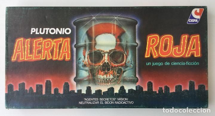 JUEGO ALERTA ROJA DE CEFA – AÑOS 80 – CELULOSA FABRIL (Juguetes - Juegos - Juegos de Mesa)