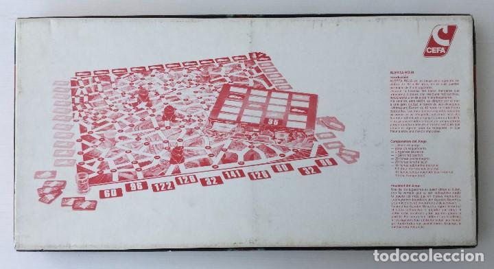 Juegos de mesa: Juego Alerta Roja de CEFA – Años 80 – CELULOSA FABRIL - Foto 4 - 147914874