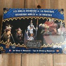 Juegos de mesa: JUEGO DE MESA - EXP. MASSIVE DARKNESS - GUERREROS NOBLES VS. LA COCATRIZ - EDGE - CMON . Lote 148180730