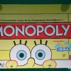 Juegos de mesa: MONOPOLY BOB ESPONJA. Lote 148338782