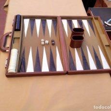 Juegos de mesa: BACKGAMMON, MALETIN PIEL. 45 X 61. Lote 148413622