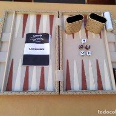 Juegos de mesa: BACKGAMMON. MALETIN EN BUEN ESTADO. ( 37,5 X 50 CM) . Lote 148420698