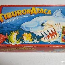 Juegos de mesa: TIBURÓN ATACA COMPLETO DE MB, FUNCIONANDO. Lote 165013137
