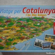 Juegos de mesa: VIATGE PER CATALUNYA I LES ILLES BALEARS - EDUCA - JUEGO EN CATALAN. Lote 148687710