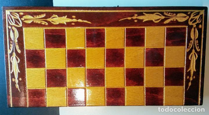 Juegos de mesa: AJEDREZ EN PRECIOSO MALETIN DE MADERA VINTAGE - Foto 5 - 148856686