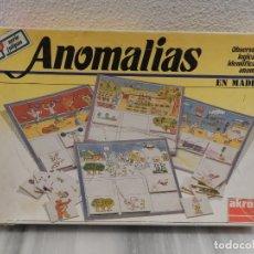 Juegos de mesa: JUEGO DE MESA - ANOMALIAS SERIE TULIPAN - EN MADERA - AKROS . Lote 148876406