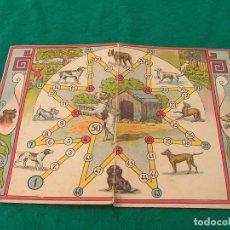 Juegos de mesa: TABLERO DESPLEGABLE DE CARTÓN BLANDO DE UN JUEGO DE PERROS. AÑOS 50 O ANTERIORES.. Lote 148945558