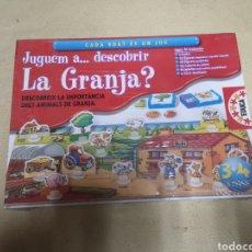 Juegos de mesa: JUGUEM A DESCUBRIR LA GRANJA DE EDUCA. NUEVO EN CATALAN. Lote 149398830