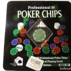 Juegos de mesa: POKER CHIPS PROFESSIONAL FINE GIFT EN SU CAJA ORIGINAL Y MANUAL DE INSTRUCCIONES. Lote 149624250