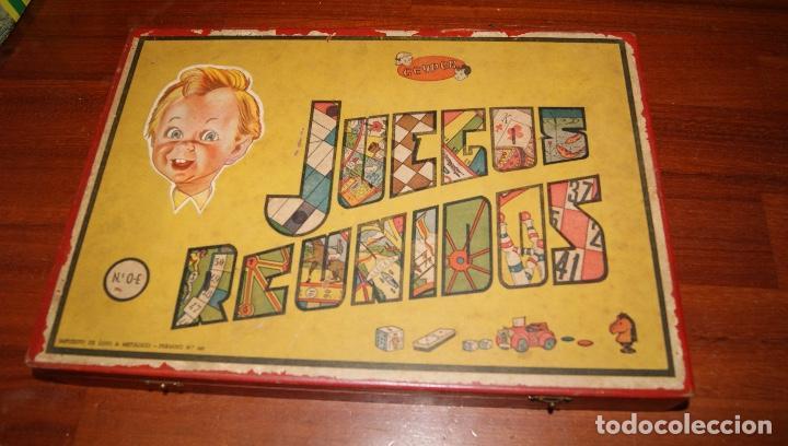 JUEGOS REUNIDOS GEYPER Nº 0-E. CAJA DE MADERA. PRIMERA GENERACIÓN, AÑOS 50 BARATA (Juguetes - Juegos - Juegos de Mesa)