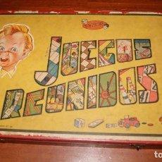 Jeux de table: JUEGOS REUNIDOS GEYPER Nº 0-E. CAJA DE MADERA. PRIMERA GENERACIÓN, AÑOS 50 BARATA. Lote 149638242
