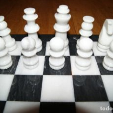 Juegos de mesa: AJEDREZ TALLADO EN MARMOL. Lote 149643114