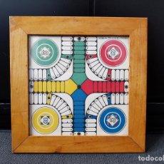 Juegos de mesa: ANTIGUO PEQUEÑO TABLERO JUEGO PARCHÍS Y OCA. Lote 149858130