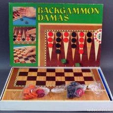 Juegos de mesa: BACKGAMMON DAMAS JUEGO MESA EDUCA REF 4685 AÑOS 80 COMPLETO. Lote 149979154