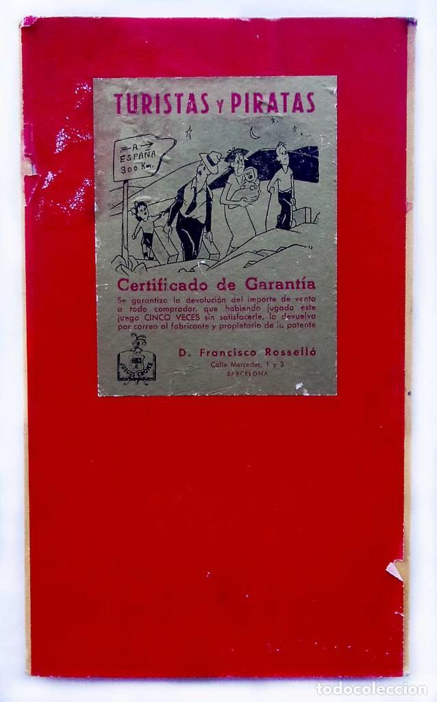 Juegos de mesa: TABLERO DEL JUEGO: TURISTAS Y PIRATAS. FRANCISCO ROSELLÓ. BARCELONA. AÑOS 50. JUEGOS CRONE. - Foto 4 - 150116762