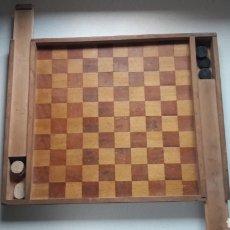 Juegos de mesa: TABLERO DE AJEDREZ Y DAMAS S.XIX-XX. Lote 150258582