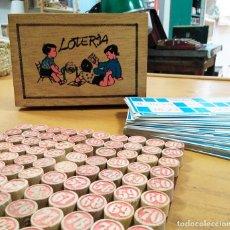 Juegos de mesa: JUEGO ANTIGUO DE LOTERÍA DE CARTONES. Lote 150342046