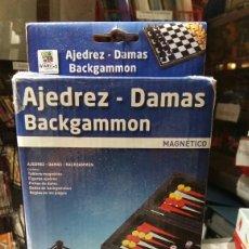 Juegos de mesa: AJEDREZ, DAMAS, BACKGAMMON. Lote 150481068