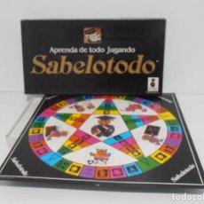 Juegos de mesa: JUEGO SABELOTODO, CARGIL INTL CORP SA, COMPLETO, SIN JUGAR, AÑOS 80. Lote 150625038
