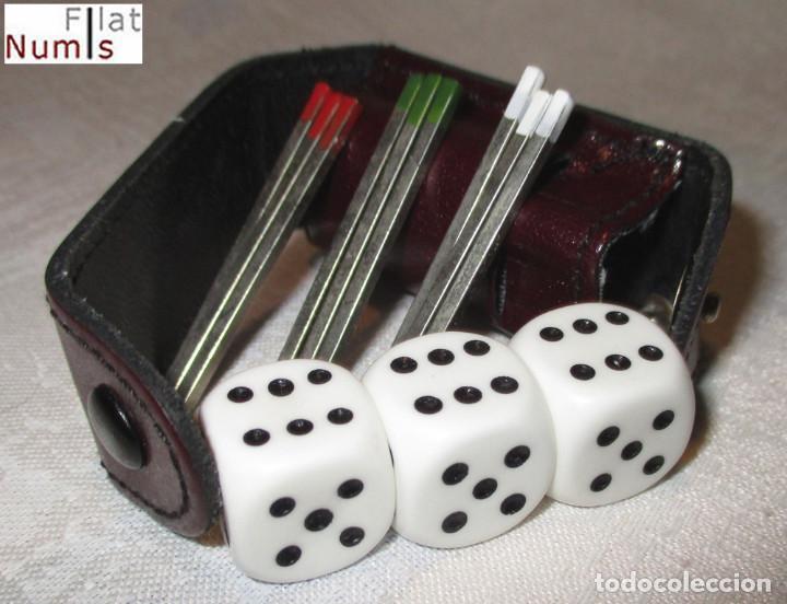 JUEGO DE DADOS Y CHINOS - DOS EN UNO - ESTUCHE DE PIEL - NUEVO (Juguetes - Juegos - Juegos de Mesa)