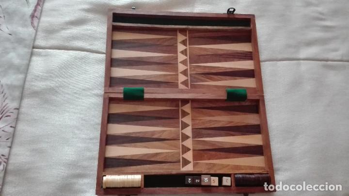 BACKGAMMON DE MADERA GRAN CALIDAD (Juguetes - Juegos - Juegos de Mesa)
