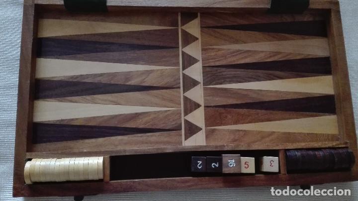 Juegos de mesa: backgammon de madera gran calidad - Foto 2 - 150981282