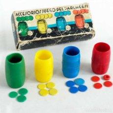 Juegos de mesa: FICHAS Y CUBILETES PARCHIS JUGUETES VIÑAS. Lote 151382394