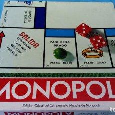 Juegos de mesa: MONOPOLY. EDICIÓN OFICIAL DEL CAMPEONATO MUNDIAL DE MONOPOLY - BORRAS. Lote 151455350
