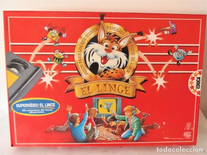 JUEGO DE MESA EL LINCE CON VÍDEO VHS DE EDUCA (Juguetes - Juegos - Juegos de Mesa)