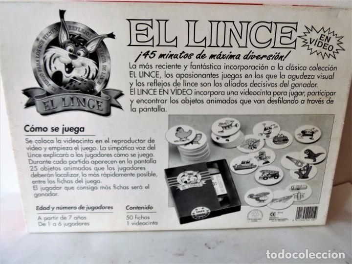 Juegos de mesa: Juego de mesa El Lince con vídeo VHS de Educa - Foto 3 - 151510278