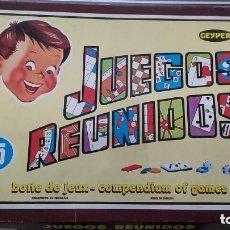 Juegos de mesa: JUEGOS REUNIDOS- GEYPER- NO COMPLETO. Lote 151593938