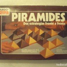 Juegos de mesa: PIRAMIDES. JUEGOS GEYPER, AÑOS 70-80. COMPLETO.. Lote 151865778